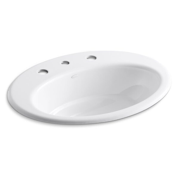 Thoreau Metal Oval Drop-In Bathroom Sink with Overflow by Kohler