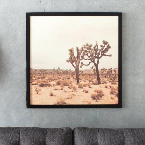 California Joshua Trees Framed Photographic Print by East Urban Home