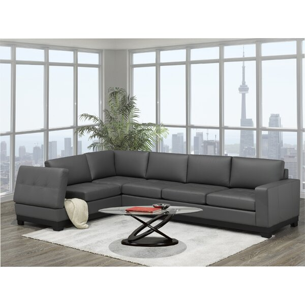Merideth Leather Large Sectional by Latitude Run