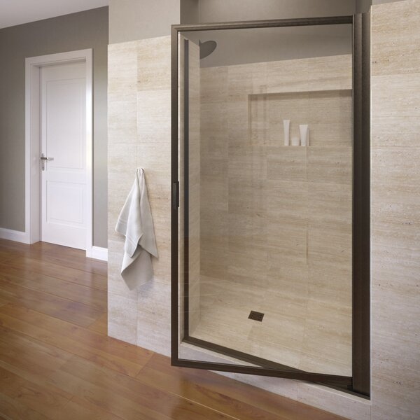 Deluxe 27.5 x 63.5 Pivot Framed Single Swing Shower Door by Basco