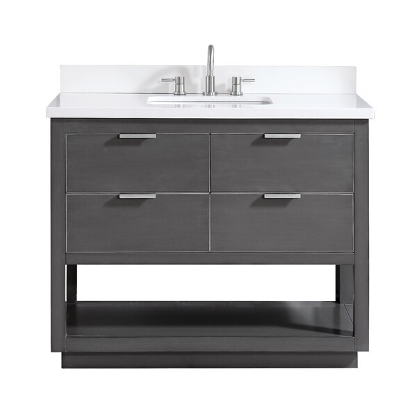Fincher 42 Single Bathroom Vanity Set by Everly Quinn