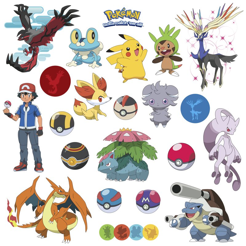 Popular Characters Pokemon XY Wall Decal