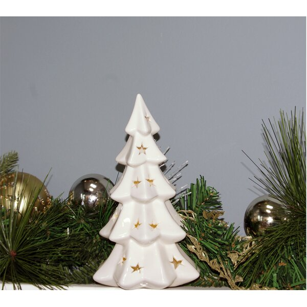 Christmas LED Lighted Ceramic Tree by The Holiday Aisle