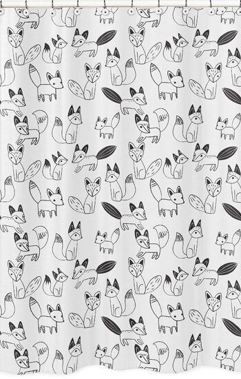 Fox Shower Curtain by Sweet Jojo Designs