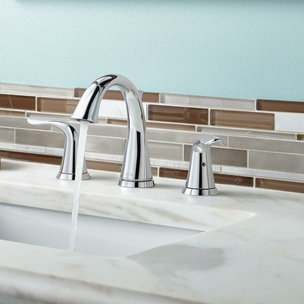 Lahara Widespread Bathroom Faucet With Drain Assembly And Diamond Seal Technology By Delta.
