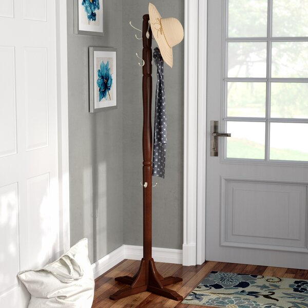 Freestanding Wood Coat Stand by Alcott Hill