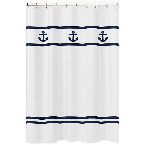Anchors Away Cotton Shower Curtain by Sweet Jojo D
