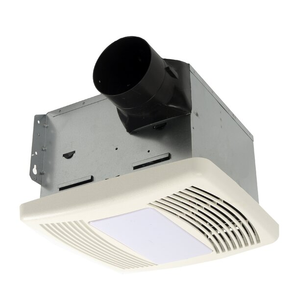 HushTone 110 CFM Energy Star Bathroom Fan With Light by Cyclone