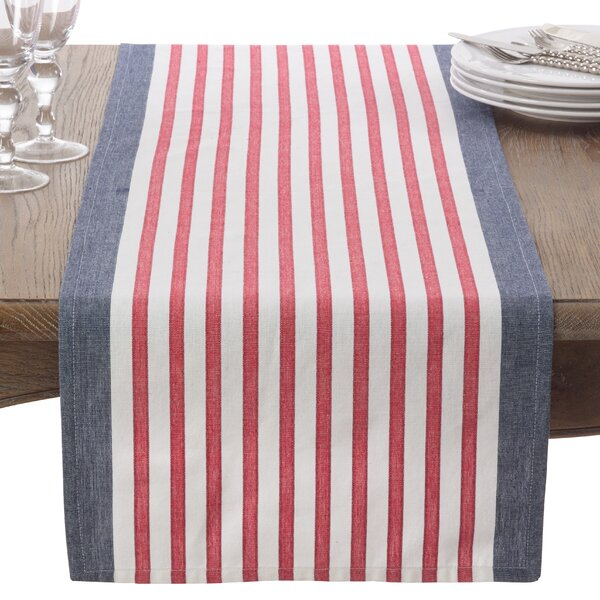 Striped Cotton Table Runner by Saro