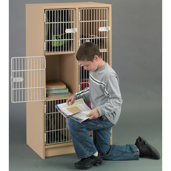 2000 Series 3 Tier 2 Wide School Locker by TotMate