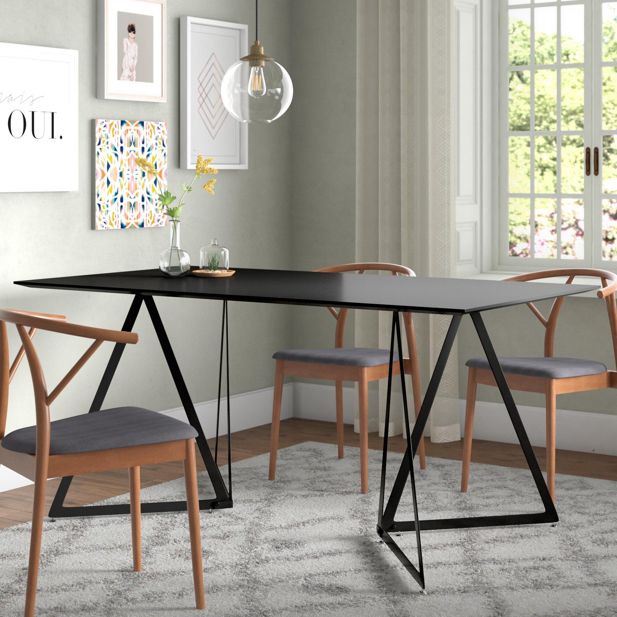 Ebern designs ravsten contemporary dining table wayfair
