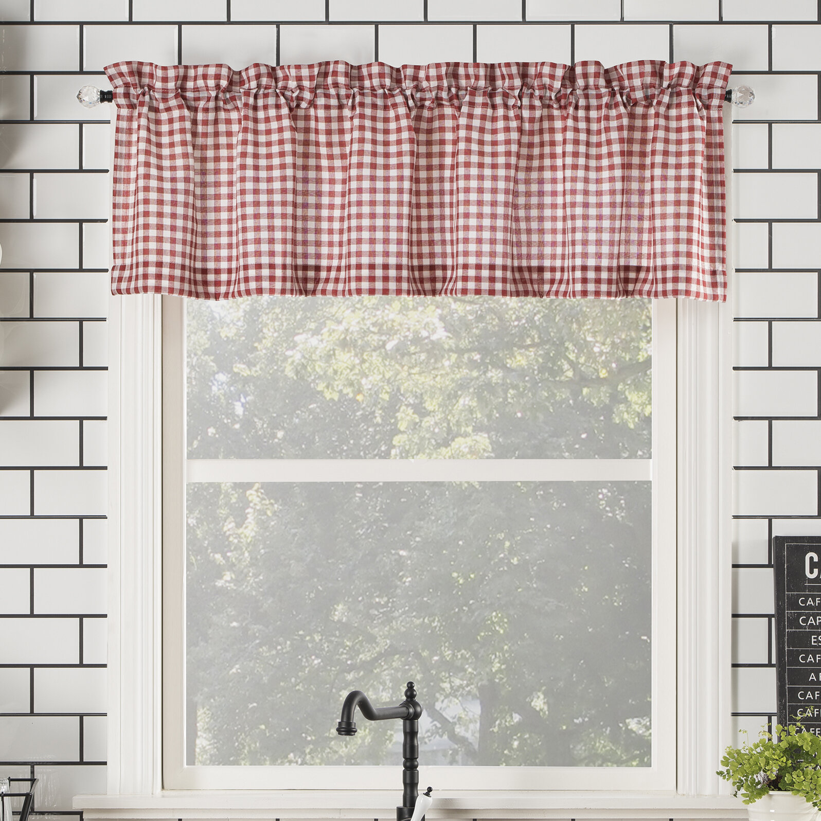 Annabelle Farmhouse Semi Sheer Rod Pocket Kitchen 54\
