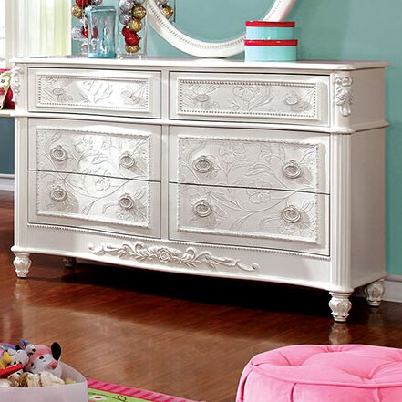 Henrietta 6 Drawer Double Dresser by A&J Homes Studio