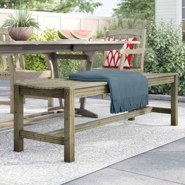 Manchester Wooden Picnic Bench by Sol 72 Outdoor