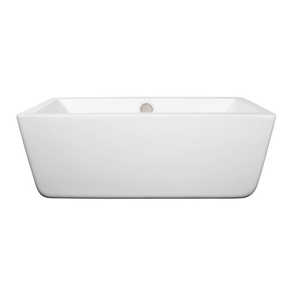 Laura 58.75 x 27.38 Soaking Bathtub by Wyndham Collection