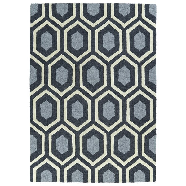 Servais Handmade Charcoal Area Rug by Wrought Studio