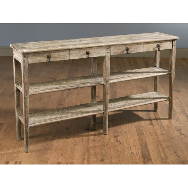 Review Whittier 4 Drawer Console Table