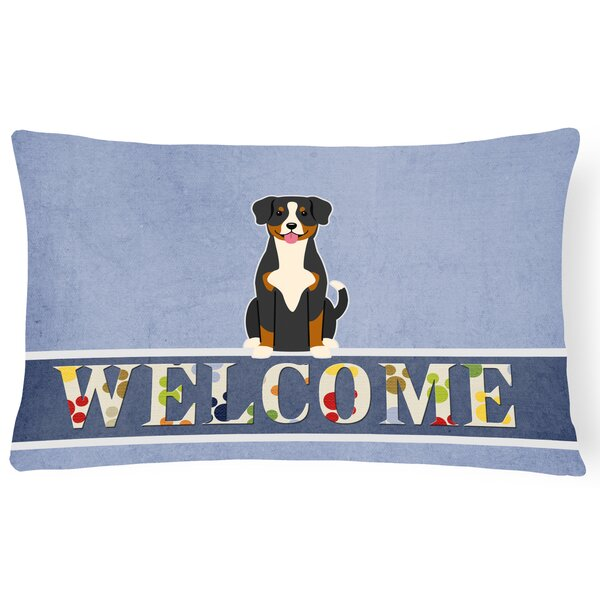 Heisler Entlebucher Welcome Lumbar Pillow by Red Barrel Studio