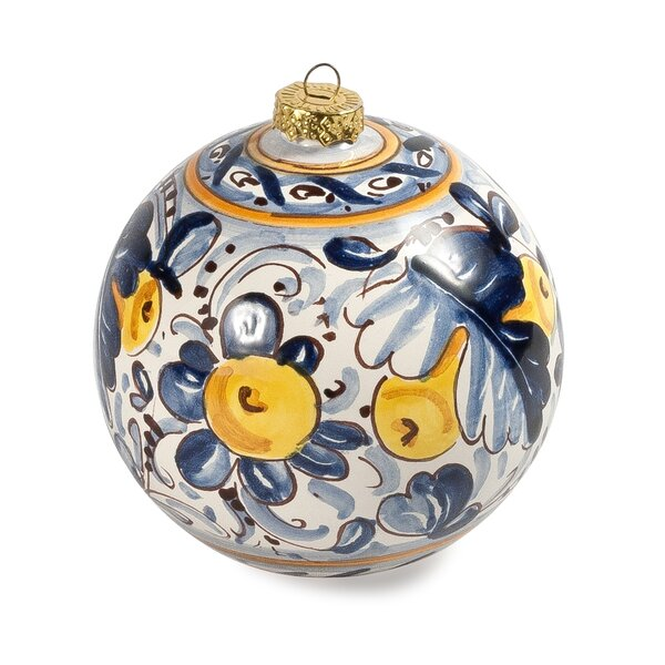 Natale Deruta Ball Ornament by Intrada Italy