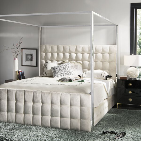 Launceston Upholstered Canopy Bed by Mercer41