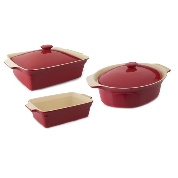 Geminis 3 Piece Casserole Set with Covers by BergHOFF International