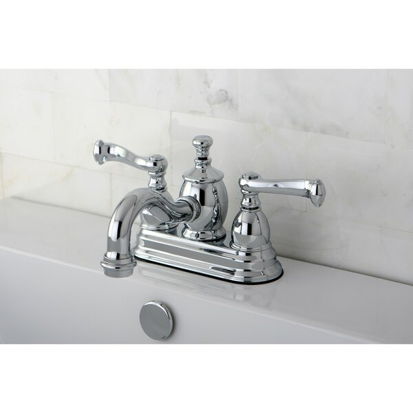 Royale Centerset Bathroom Faucet With Drain Assembly By Kingston Brass