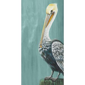 'Pelican Landing' by Karin Grow Graphic Art on Canvas by GreenBox Art