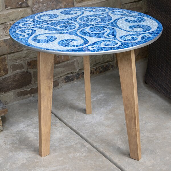Fiorino Mosaic End Table By World Menagerie
