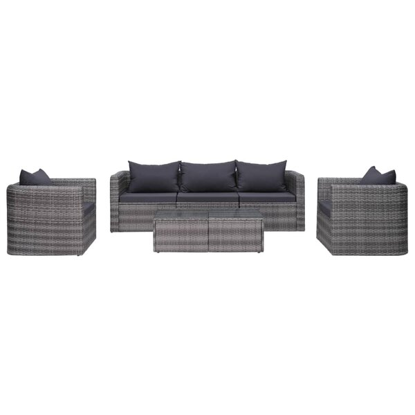 Anacostia 6 Piece Rattan Sofa Seating Group with Cushions by Ebern Designs Ebern Designs