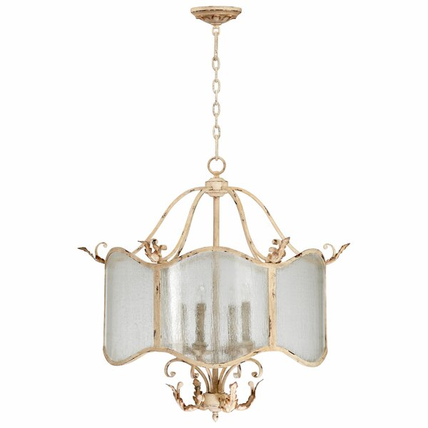 Maison 4 - Light Shaded Drum Chandelier By Cyan Design