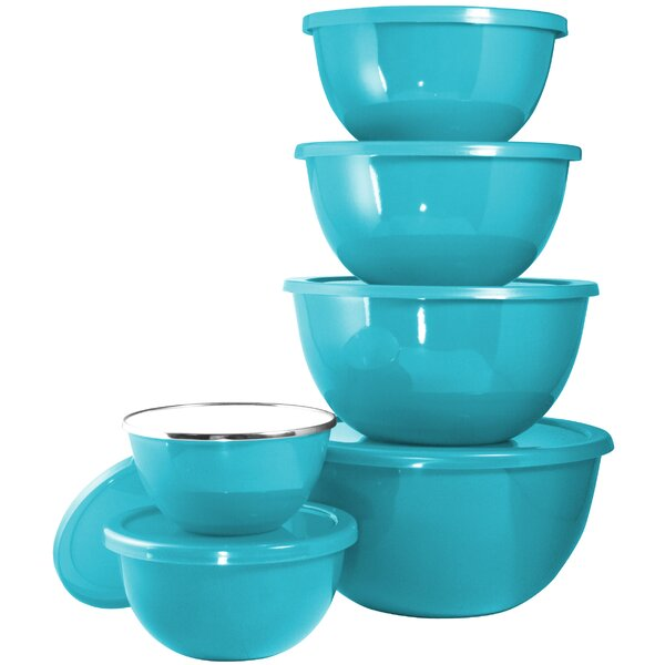 Calypso Basic 12 Piece Steel Mixing Bowl Set by Reston Lloyd