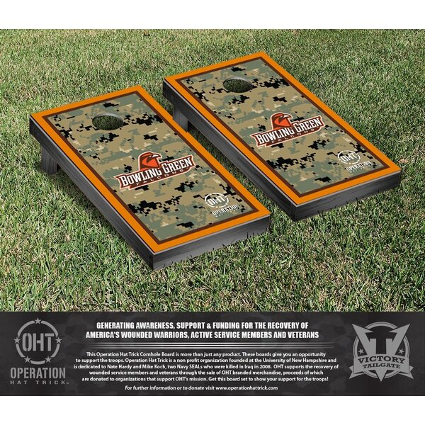 NCAA Operation Hat Trick Bowling Green State Falcons Cornhole Game Set by Victory Tailgate