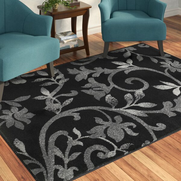 Myra Black Area Rug by Red Barrel Studio