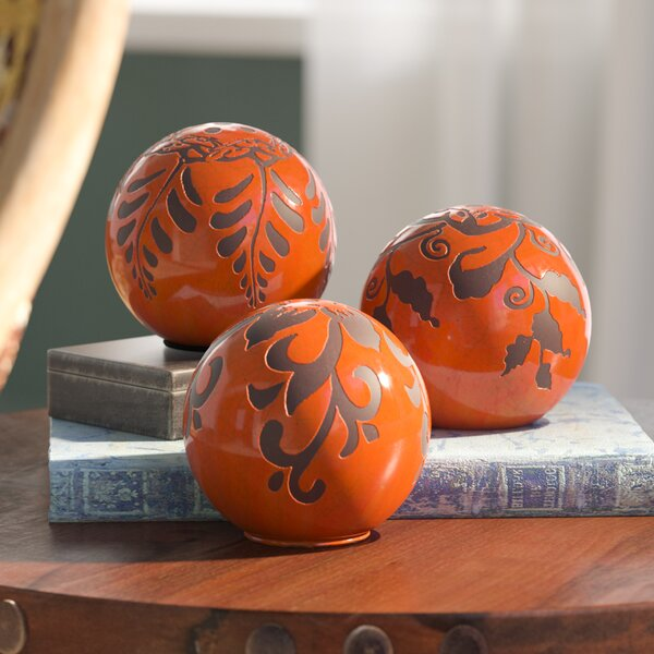 3 Piece Ball Sculpture Set by World Menagerie