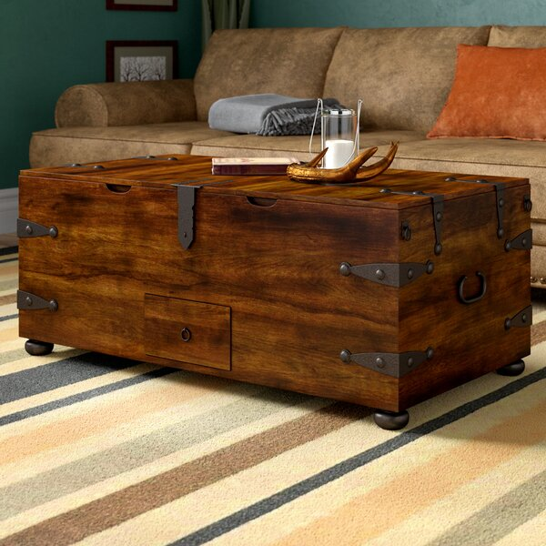 Castrejon Solid Wood Lift Top Coffee Table With Storage By World Menagerie