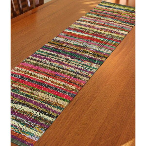 Fleur Recycled Cotton Cuttings Chindi Table Runner by Latitude Run