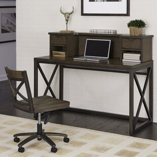 Shopping for Witham Writing Desk with Hutch and Chair Set ByWilliston Forge