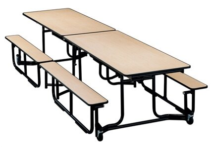 Uniframe Table 139.5'' x 60'' Rectangular Cafeteria Table by KI Furniture