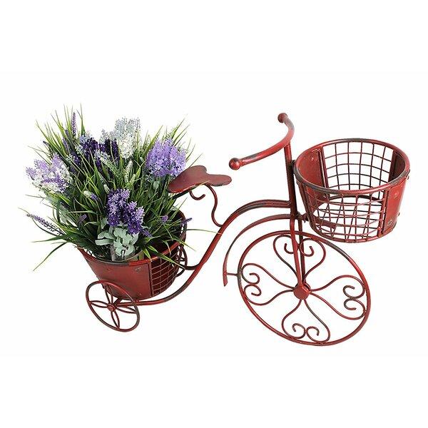 Shanda Metal Wheelbarrow Planter with Trellis by August Grove