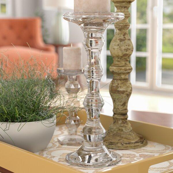 Glass Candlestick by Alcott Hill