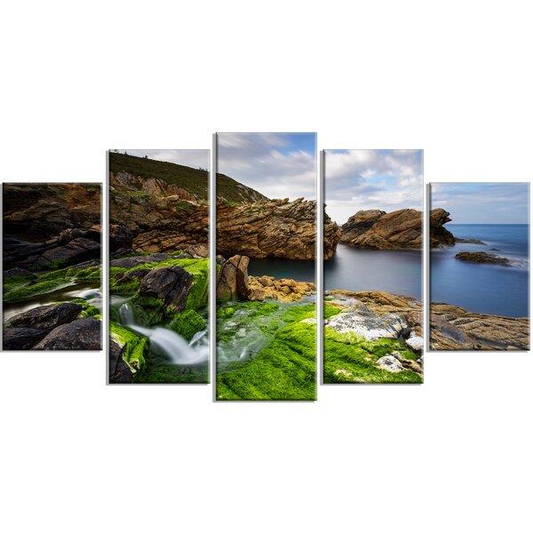 Rocks In Spanish Part - 38: DesignArt U0027Rocks And Waterfall In Spanish Coastu0027 5 Piece Wall Art On  Wrapped Canvas Set | Wayfair