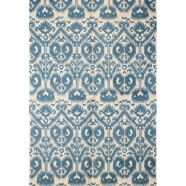 Rajapur Ivory & Blue Area Rug by Bashian Rugs