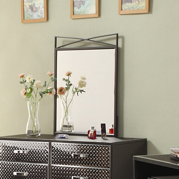 Spaced Out Crowned Top Dresser Mirror by Woodhaven Hill