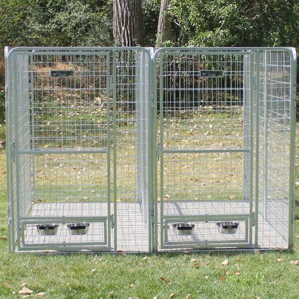 2 Dog Galvanized Steel Yard Kennel by K9 Kennel