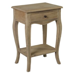 Lora Wood End Table by Lark Manor