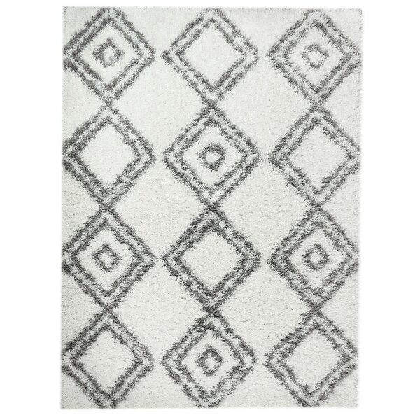 White/Gray Area Rug by Super Area Rugs