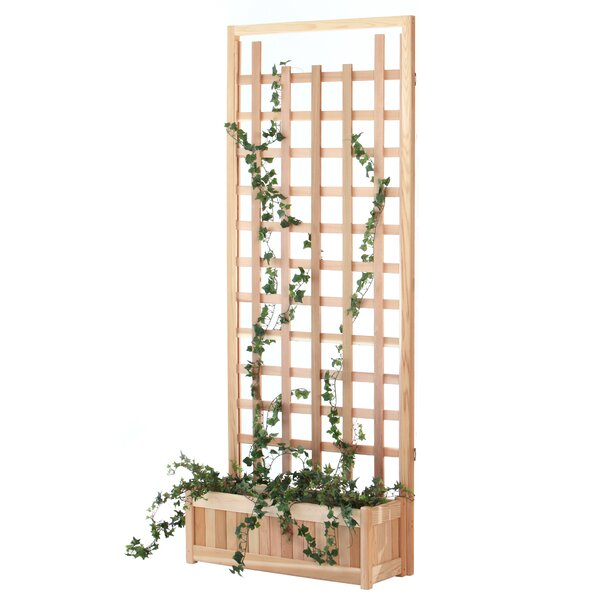 2 Piece Wood Lattice Panel Trellis Set by All Things Cedar