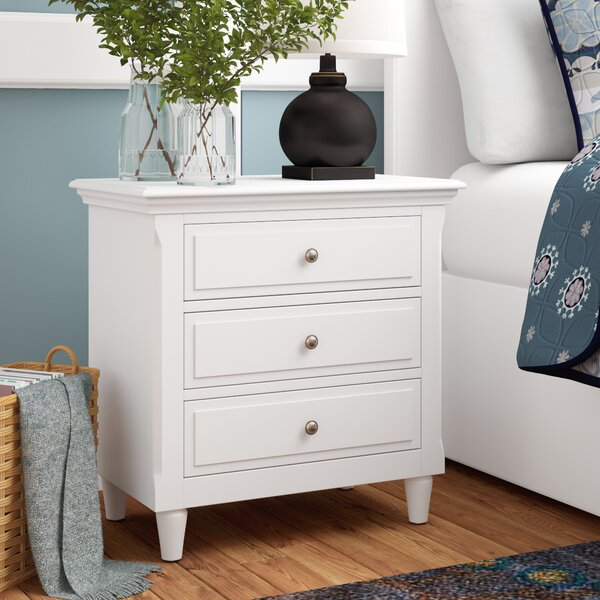 Wickes 3 Drawer Nightstand By Three Posts by Three Posts Read Reviews