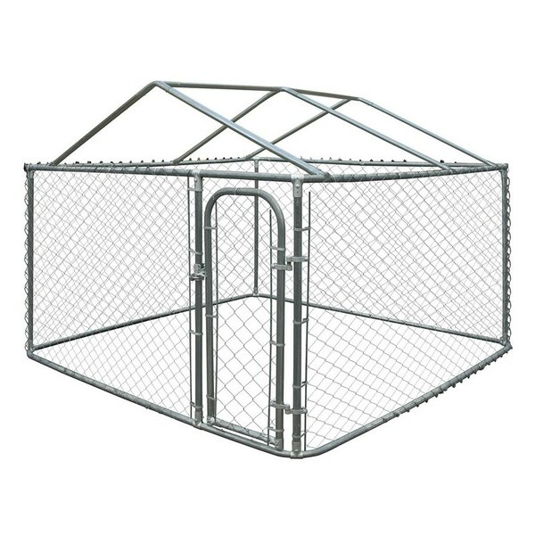 Merlin DIY Chain Link Dog Yard Kennel with Roof Frame by Tucker Murphy Pet