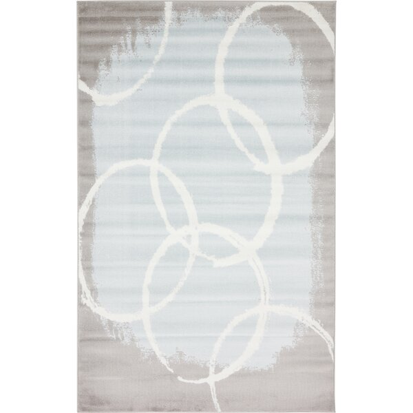 Sidney Light Blue Area Rug by Wrought Studio